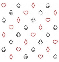 Casino pattern white vector image