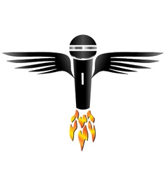 Flying Microphone vector image