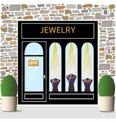 jewelry shop building facade of stone vector image