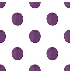 plum seamless pattern made in cartoon flat style vector image vector image