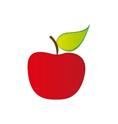 red apple fruit icon stock vector image vector image