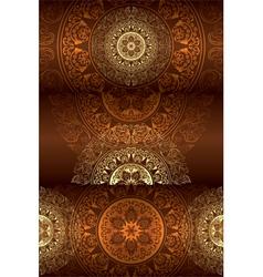 Set of brown vintage floral backgrounds vector image