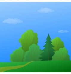 summer forest vector image vector image