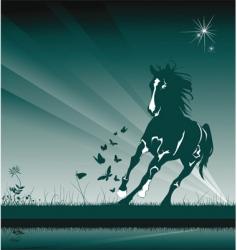 wild horse vector image vector image