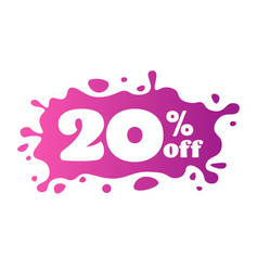 20 percent off price special offer sticker vector image