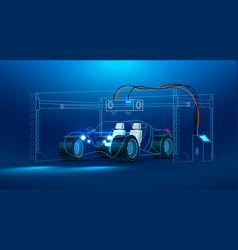 3d printing of a car vector image vector image