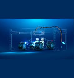 3d printing of a car vector