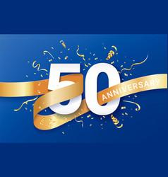 50th anniversary celebration banner template vector