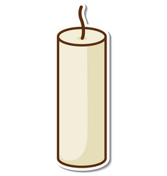 A candle without flame sticker on white background vector
