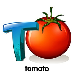 A letter T for tomato vector