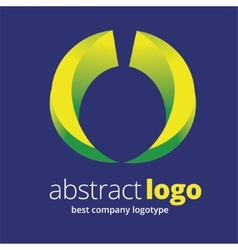 Abstract logotype concept isolated on blue vector image