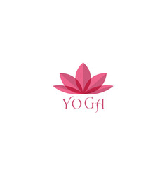 Abstract or colorful lotus flower for yoga woman vector