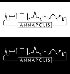 annapolis skyline linear style editable file vector image