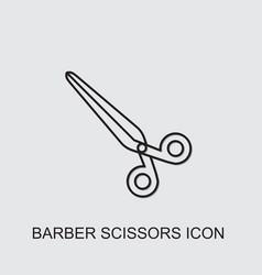 Barber scissors icon vector