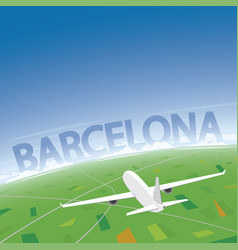 Barcelona flight destination vector