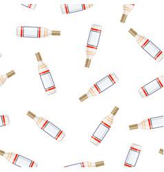 bottle alcohol of vodka vector image
