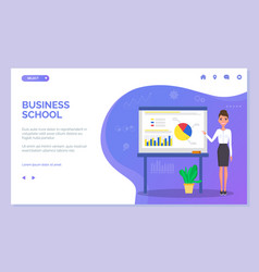 business school web site template young vector image