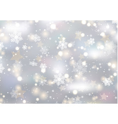 Christmas background snowflakes and stars vector