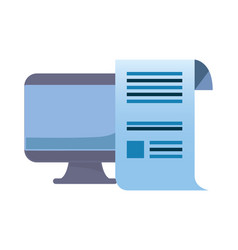Computer monitor document vector
