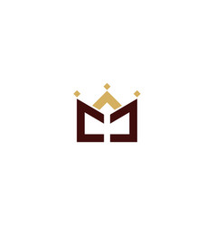 crown line abstract logo vector image