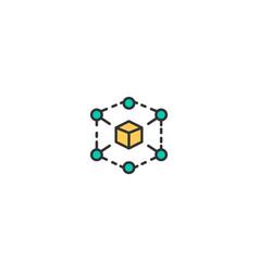cube icon design marketing icon design vector image