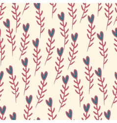 Cute valentines seamless pattern with hearts vector image