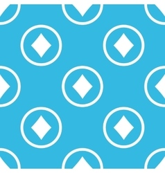 Diamonds sign blue pattern vector