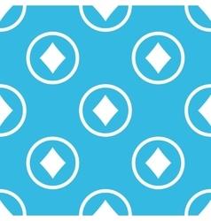 Diamonds sign blue pattern vector