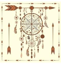Dream Catcher arrows beads ethnic Indian vector image