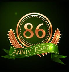 eighty six years anniversary celebration design vector image