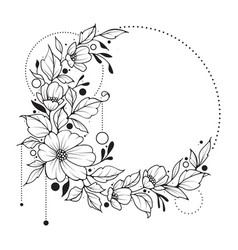 Elegant floral with copy space vector