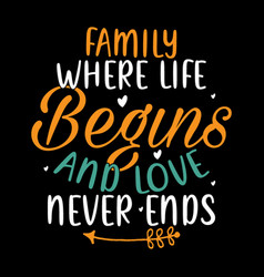 family where life begin thinking quotes vector image