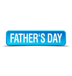 Fathers day blue 3d realistic square isolated vector