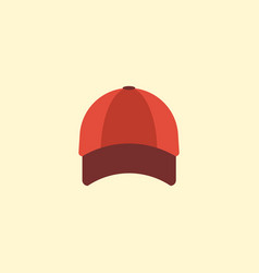 flat icon baseball cap element vector image