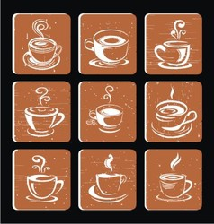 Hand Drawn Coffee Cup Icon vector image