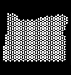 Hex-tile oregon state map vector