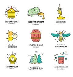 Honey logos vector