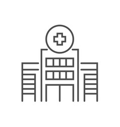 hospital building related thin line icon vector image