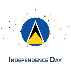 independence day of saint lucia patriotic banner vector image