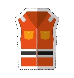 jacket safety isolated icon vector image