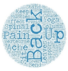 Keep back pain at bay text background wordcloud vector