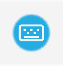 keyboard icon sign symbol vector image