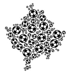 Kosovo map composition of football spheres vector
