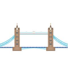 london tower bridge english landmark eps10 vector image