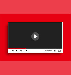 modern flat style clean white video player vector image