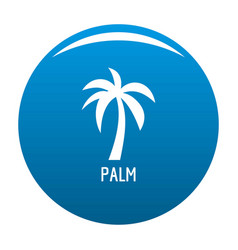 palm tree icon blue vector image