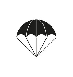 parachute of black icon vector image