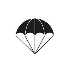 Parachute of black icon vector