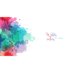 Pastel color splash abstract watercolor background vector