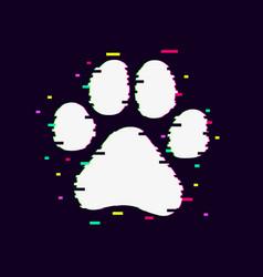 Paw glitch4 vector